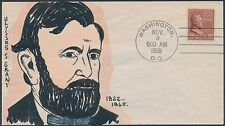 "#823 ""ULYSSES S. GRANT"" ON MAE WEIGAND FDC CACHET HANDPAINTED BS2088"