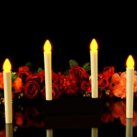 10 LED Christmas Decoration Flameless Battery Taper Candles 17.5cm by PK Green