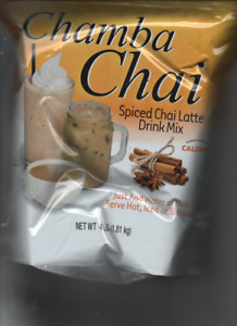 Chamba Chai Spiced Chai Latte,  4lb. Bag, New PRIORTY MAIL best by OCT  2021
