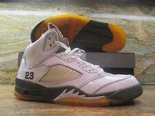 2009 Nike Air Jordan 5 V Retro LS SZ 9 White Dark Cinder Army Del Sol 136027-121