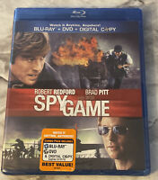 Spy Game (Blu-ray / DVD, 2011, 2-Disc Set) Robert Redford and Brad Pitt NEW