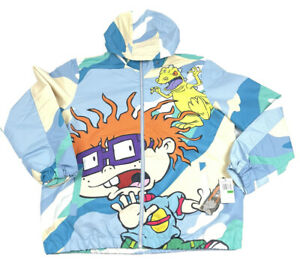 MEMBERS ONLY X Nickelodeon Rugrats ALLOVER Windbreaker Jacket XL NEW 90s Style