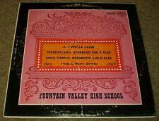 Fountain Valley High School 1968 1969 A Cappella Choir Chorus Glee~FAST SHIPPING