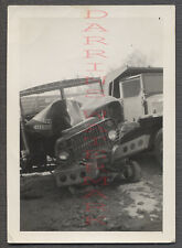 Vintage Photo Unusual Military Truck Wreck 682789