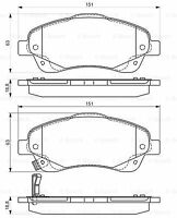 Bosch Front Brake Pad Set 0986495083 BP1531 - 5 YEAR WARRANTY