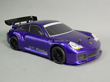 1/10 RC Car BODY Shell PORSCHE TURBO GT3 200mm Fits HPI *PRE- FINISHED* Purple