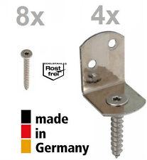 4 Stück GAH-Alberts Flechtzaunbeschlag L-Form Edelstahl A2 V2A 83x32x30