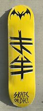 "Graphic blanks skateboard deck 8.375"" great deal quality HESH Yellow"