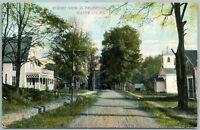 PROMPTON WAYNE COUNTY PA STREET VIEW 1908 ANTIQUE POSTCARD