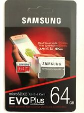 REAL Samsung 64GB Micro SD SDXC Class10 U3 Memory Card for Android Phone/Tablets