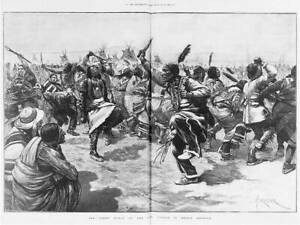 Photo:Ghost dance of the Sioux Indians,1891,Traditional Dress 3135
