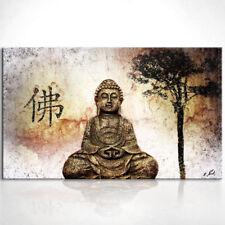 Buddha Figur Buddhismus Bild auf Leinwand Bilder Wandbilder Kunstdruck D0444