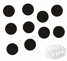 91 X QUALSIASI COLORE Dots Macchie CERCHI AUTO Vivaio Adesivi