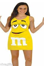 Ladies Yellow M'n'M Chocolate Novelty Halloween Costume - sz S/M