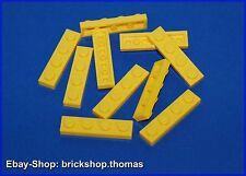 Lego 10 x Platte (1 x 4) - 3710 gelb - Yellow Plate - NEU / NEW