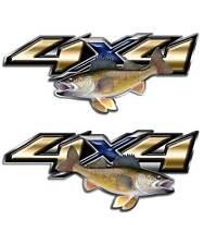 Truck Decal - Walleye Fishing 4x4 Sticker set for Chevy Toyota Dodge GMC