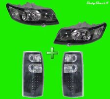 Holden Commodore VY Ute BLACK SS Head Lights and LED Brake Park Tail Lights Set