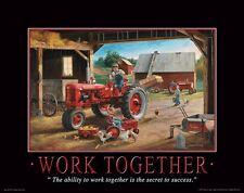Farmall IH Tractor Motivational Poster Art Print Toys Broucher Parts  MVP108