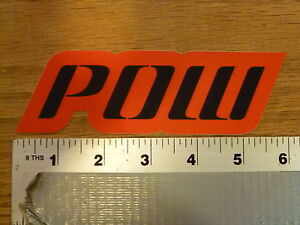 POW Gloves large Red Sticker Decal