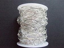 50cm di CATENA in ottone anelli ovale  25x10mm colore argento