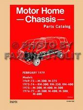 Dodge Motor Home Parts Book 1977 1976 1975 1974 1973 1972 1971 1970 69 Motorhome