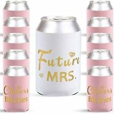 12 Pieces Bride Can Coolers, Team Drinking Coolie Sleeves Bachelorette Cheer And