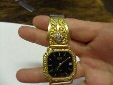 Seiko Man's 10k(Base)24kt Raw Nuggets/Diamond Alaskan Made Watch 18.1 GRAM