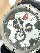 Reebok Impact Chronograph Stainless Steel Men's Watch RD-IMP-G6-S1IB-1B