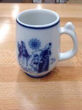 Vintage Porsgrund Norway Coffee/Tea Mug Christmas Jesus On the Road to Temple