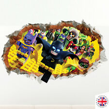 3D LEGO BATMAN Wall Sticker Vinyl Mural Poster Bedroom Boys Girls
