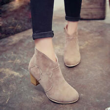 Women Short Cylinder Boots High Heels Boots Shoes Martin Boots Ankle Boots New