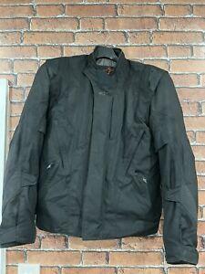 ALPINESTARS P1 Drystar Mens Large Motorcycle Black Textile Jacket