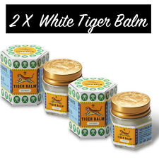 2 X Balsamo di TIGRE Bianco ORIGINALE ( in ITALIA ) / WHITE Tiger BALM - 21 ml