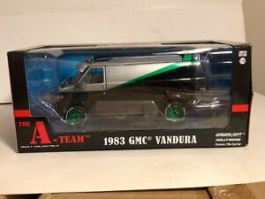GREENLIGHT THE A-TEAM 1983 GMC VANDURA VAN TV SERIES 1:24 GREEN MACHINE