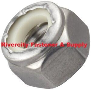 (25) 10-24 Nylon Insert Lock / Stop / Nuts / Nylocks 18-8 Stainless Steel