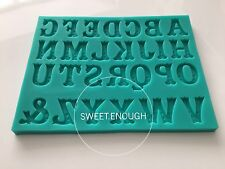 Alphabet Letters fancy  Silicone Fondant Mould Birthday Cake Decorating mold