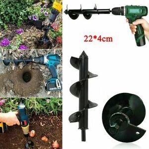 "8.5/""x1.5/"" Garden Auger Spiral Drill Bit for Digging Holes"