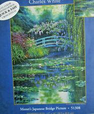 New listing Candamar / Charles White Monet's Japanese Bridge Embellished Cross Stitch Kit