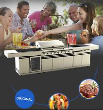 New 3 Piece Modular BBQ Grill Island Outdoor Kitchen w/ Wine Cooler + Sink