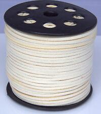 9.1m 3mm Beige Suede Leather À Cordes Joaillerie Artisanat Fil Cordons