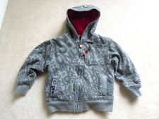 BOYS size 5 small ECKO UNLTD Zip up Sweatshirt Hoodie JACKET Gray Red