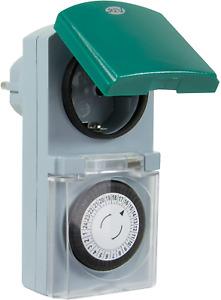 Zeitschaltuhr, für innen und aussen, mechanisch, 48 Zeiten/Tag, 30Min. 3680W
