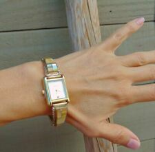 Gold Fill 12KGF Yellow Mother of Pearl Inlay Women's Watch