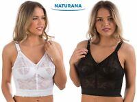 Ladies Naturana Soft Cup Long Line Comfort Bra 8000 White or Black