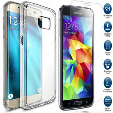 Hybrid 360 Shockproof Case Tempered Glass Cover for Apple iPhone X 8 5s SE Clear Samsung Galaxy S7 Edge