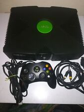 original black xbox with all leads & one controller s & 17 games