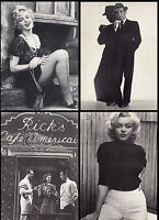 "4 Postkarten, Marilyn Monroe + Humphrey Bogart (""Bus Stop"", ""Casablanca"" u.a.)"