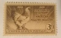 Centennial of the American Poultry Industry 3 Cent US Postage Stamp Single MNH
