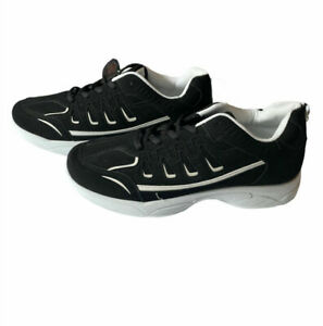 Men's Size 12 Athletic Running Tennis Shoes Sneakers Black Sports Gym NEW Suede