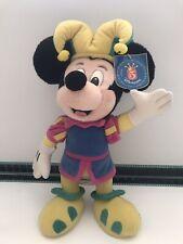 "16"" Disneyland Paris 1997 Mickey Mouse Jester Plush Toy RARE 5 Years Anniversary"